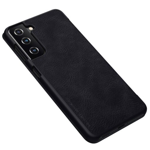 Samsung S21 PLUS kaaned Nillkin Qin nahast must 1