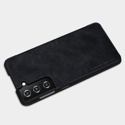 Samsung S21 PLUS kaaned Nillkin Qin nahast must 11