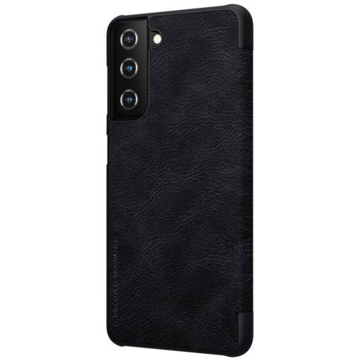 Samsung S21 PLUS kaaned Nillkin Qin nahast must
