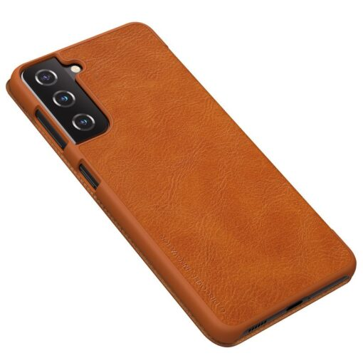 Samsung S21 PLUS kaaned Nillkin Qin nahast pruun 3