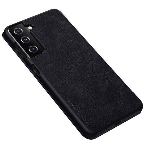 Samsung S21 kaaned Nillkin Qin nahast must 2