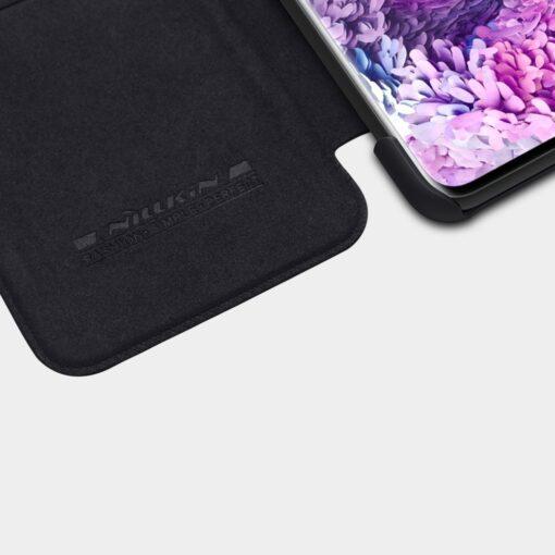 Samsung S21 kaaned Nillkin Qin nahast must 4