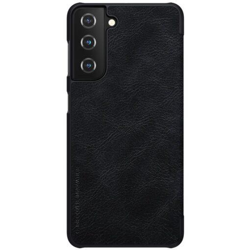 Samsung S21 kaaned Nillkin Qin nahast must