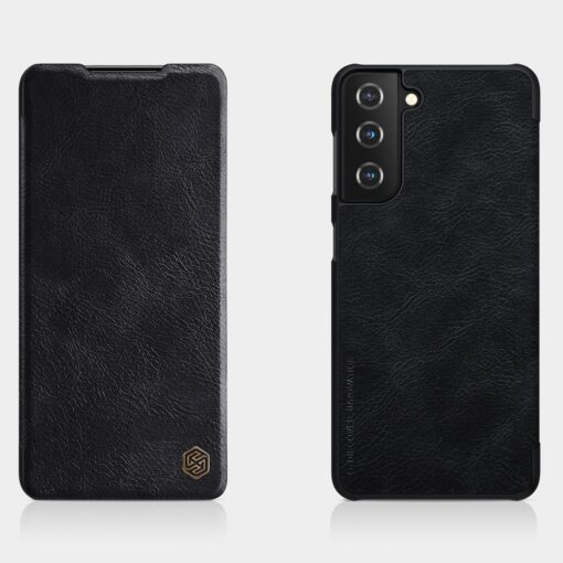 Samsung S21 kaaned Nillkin Qin nahast must 9