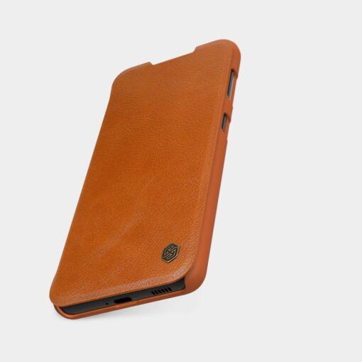 Samsung S21 kaaned Nillkin Qin nahast pruun 7
