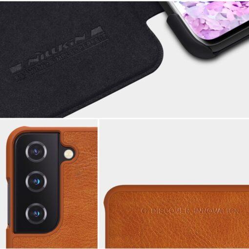 Samsung S21 kaaned Nillkin Qin nahast pruun 8