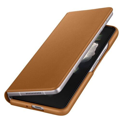Samsung Z Fold 3 Leather Flip umbris Samsung pruun EF FF926LAEGWW 5