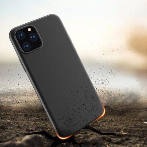 iPhone 12 mini matt silikoonist umbris must 2
