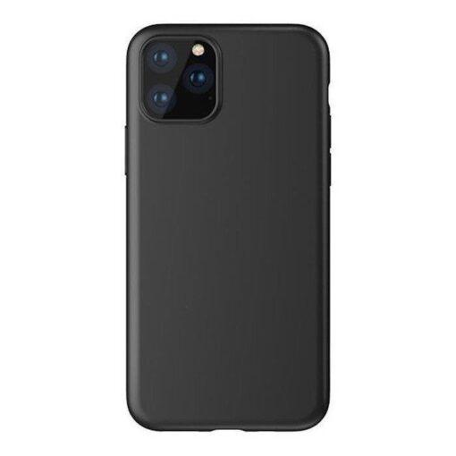 iPhone 12 mini matt silikoonist umbris must 3