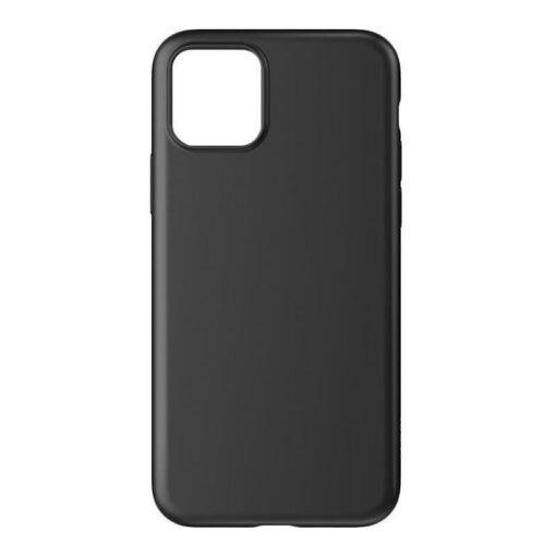 iPhone 12 mini matt silikoonist umbris must