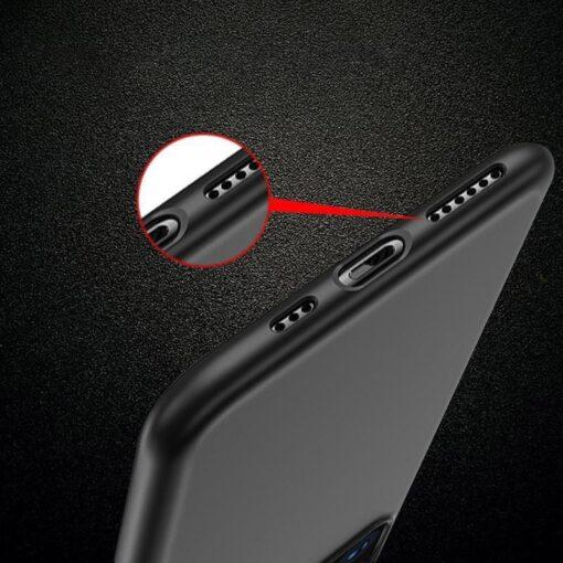 iPhone 12 mini matt silikoonist umbris must 6