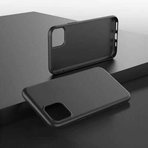 iPhone 12 mini matt silikoonist umbris must 8