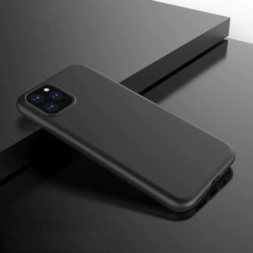 iPhone 12 mini matt silikoonist umbris must 9